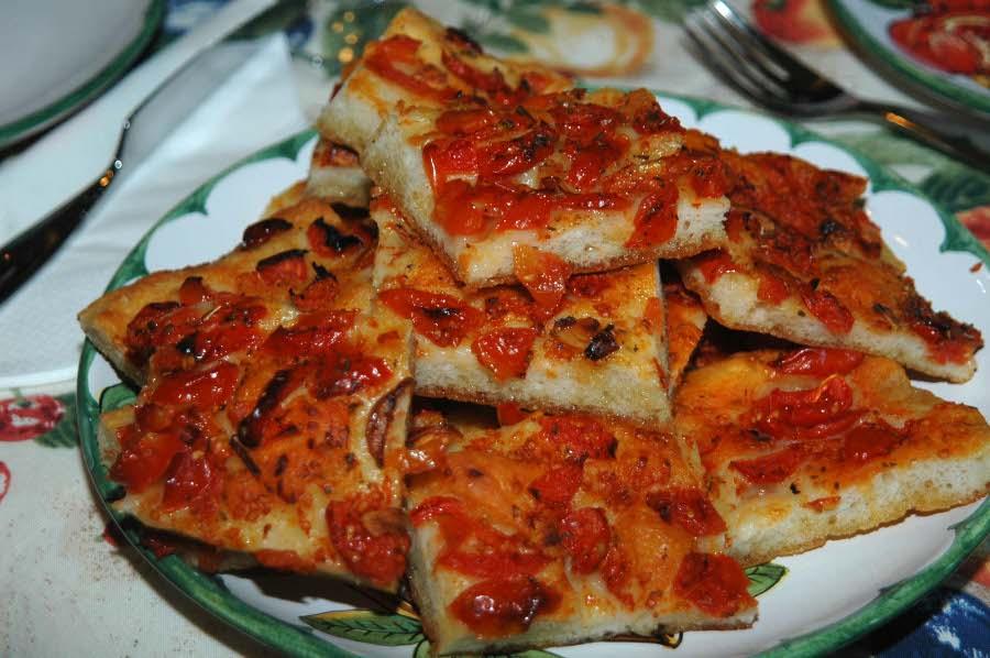 Pizza al pomodoro for La cucina di francesca valmadonna